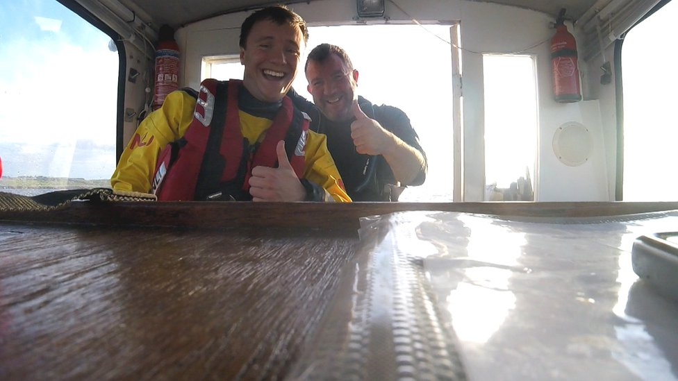 Lifeboat volunteer rescues father off coast of Fife