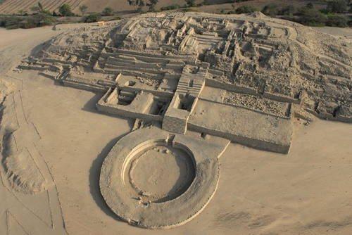 La zona arqueológica de Caral