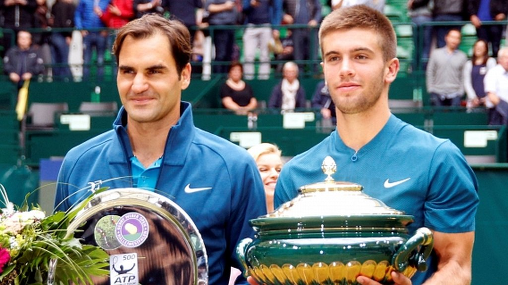 Federer loses number one ranking after shock Coric defeat in final
