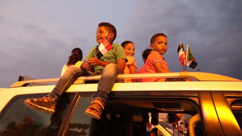 احتفالات في الخرطوم