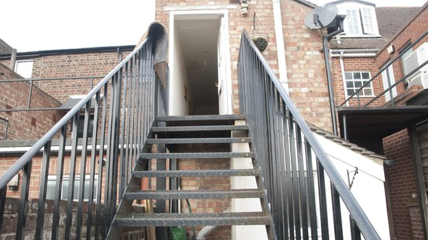 Colin Evans's flat