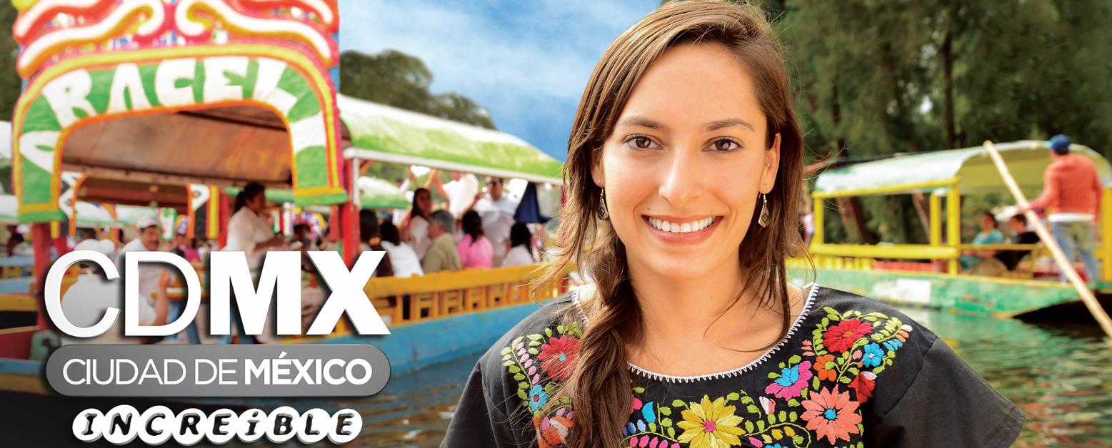 Un afiche publicitario de la marca CDMX