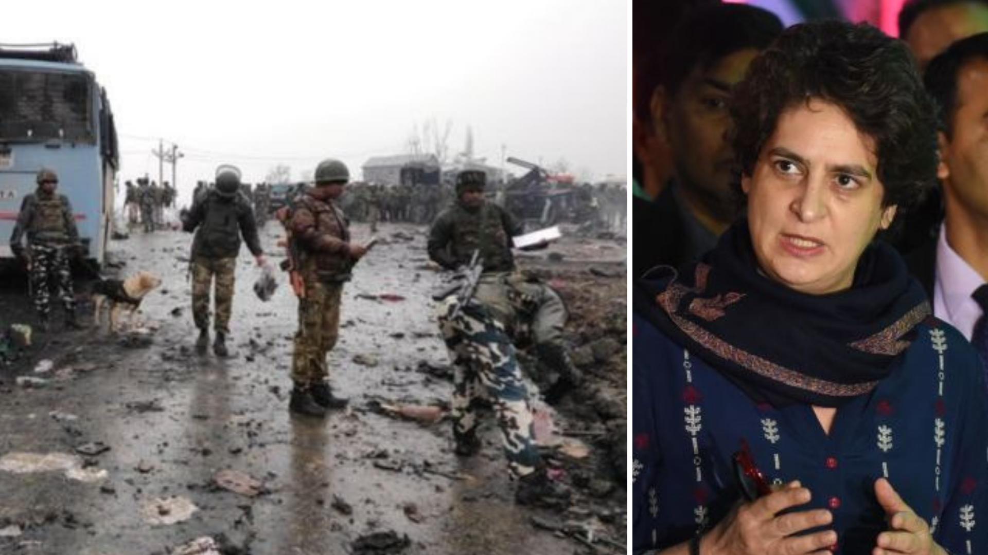 पुलवामा CRPF हमला: प्रेस कॉन्फ़्रेंस में हंस नहीं रही थीं प्रियंका गांधी