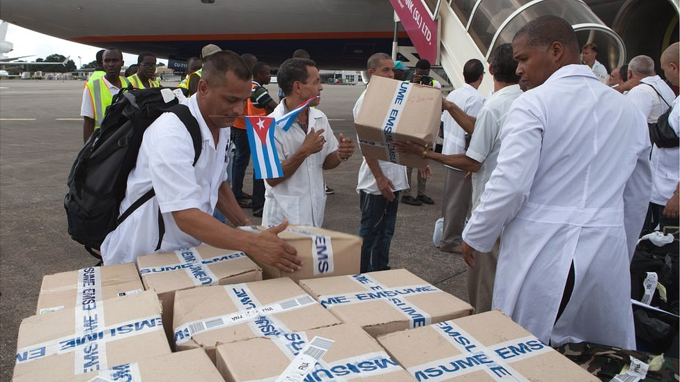 Avión cubano en Sierra Leona
