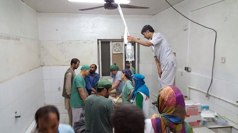Surgery activities underway in the aftermath of the bombing of hospital (3 October 2015)