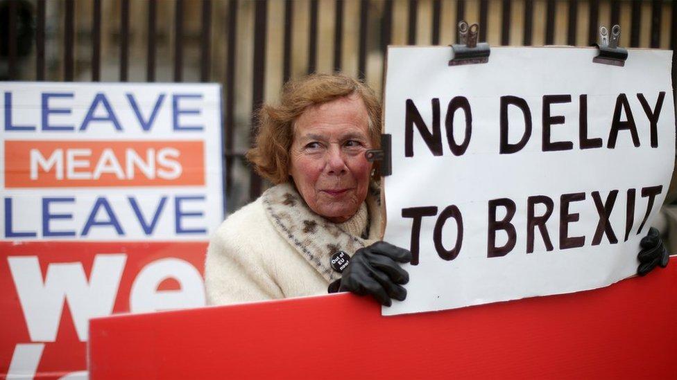 Protesta contra el posible retraso del Brexit