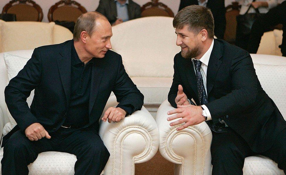 Vladimir Putin y Ramzan Kadyrov en 2007.
