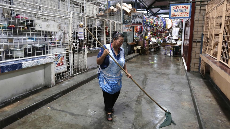 The Roberto Huembes market in Managua is virtually empty of customers during a 24-hour nationwide general strike called by the opposition in Nicaragua on June 14, 2018