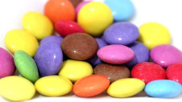 A pile of chocolate sweets