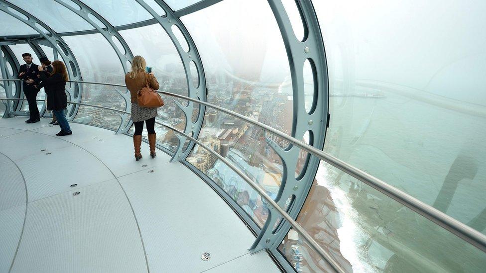 Inside i360 tower