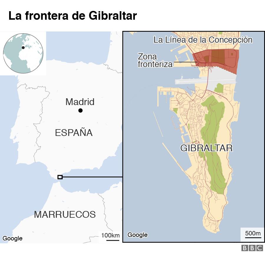 Mapa Gibraltar