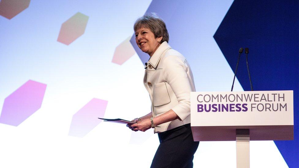 رئيسة الوزرءا البريطانية