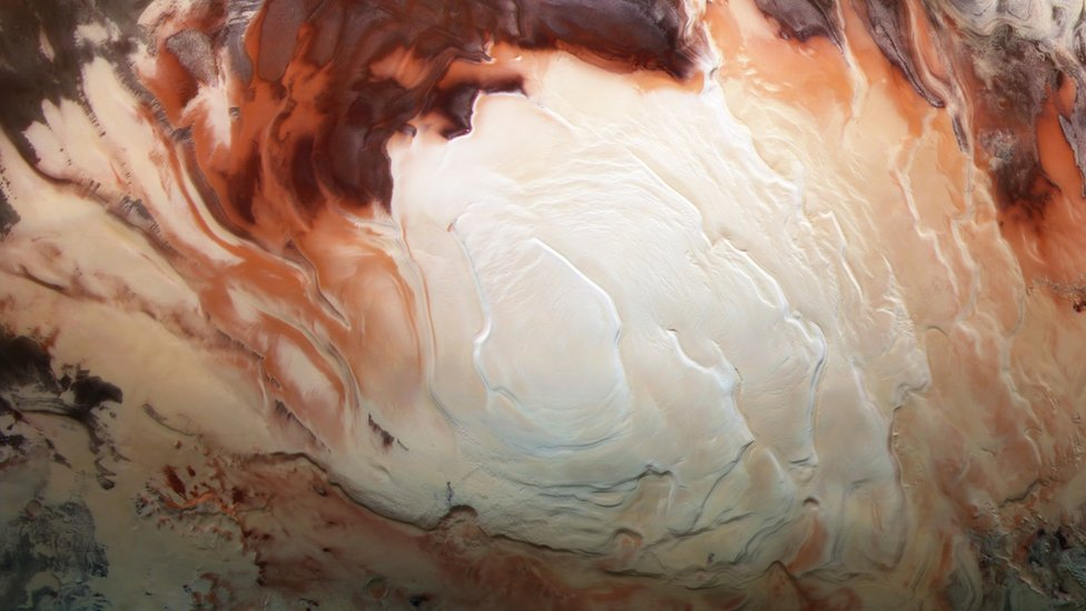 Mars south polar region