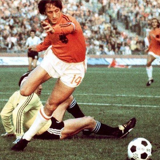 Johan Cruyff lideró a los holandeses hasta la final en 1974.