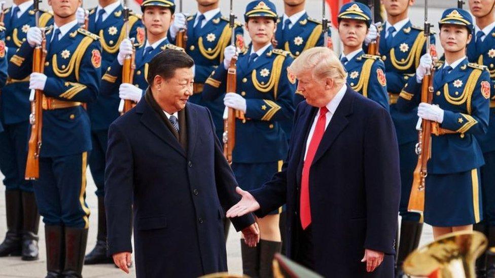 Xi Jinping e Donald Trump em encontro em 2017