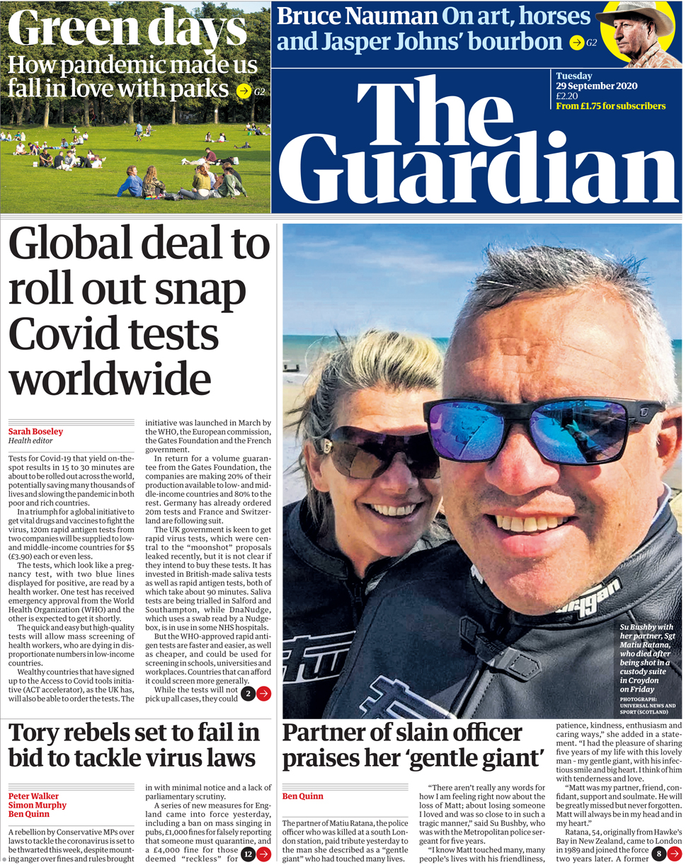 Guardian 29 September