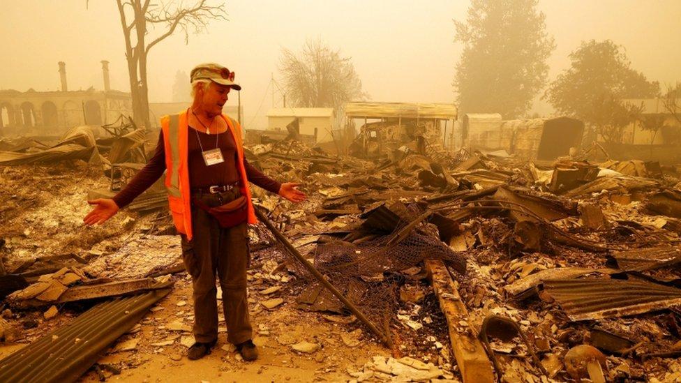 Un residente perdió todo tras el incendio de Greenville.