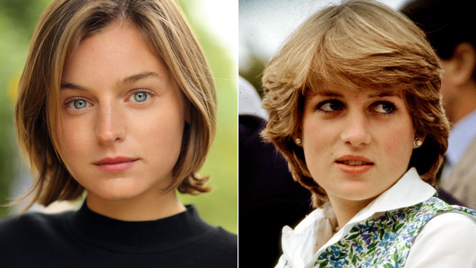 The Crown Newcomer Emma Corrin Cast As Princess Diana Bbc News