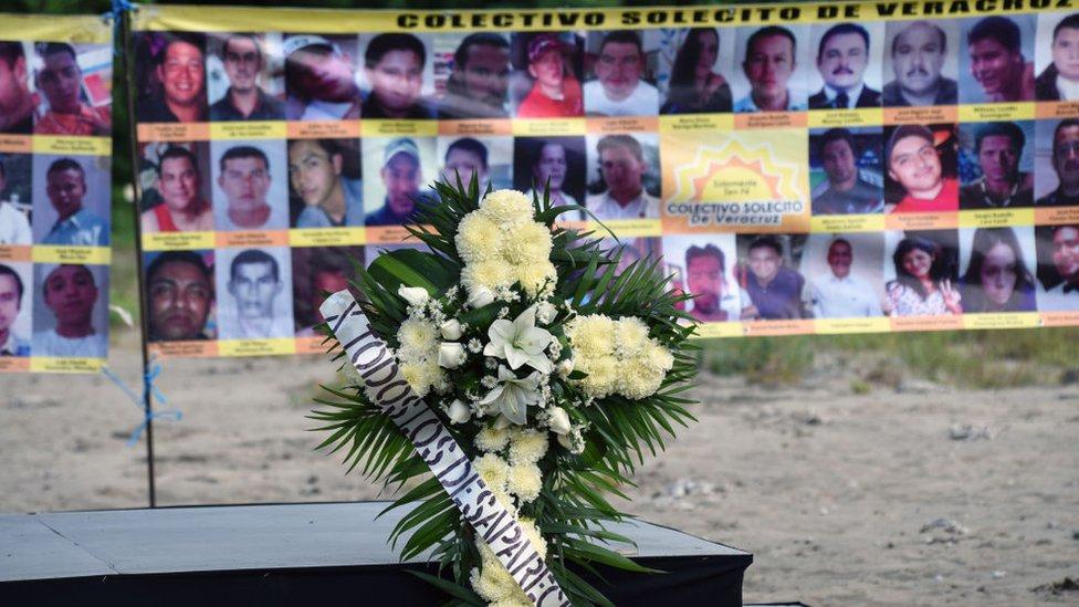 Retratos de víctimas de la violencia en Veracruz