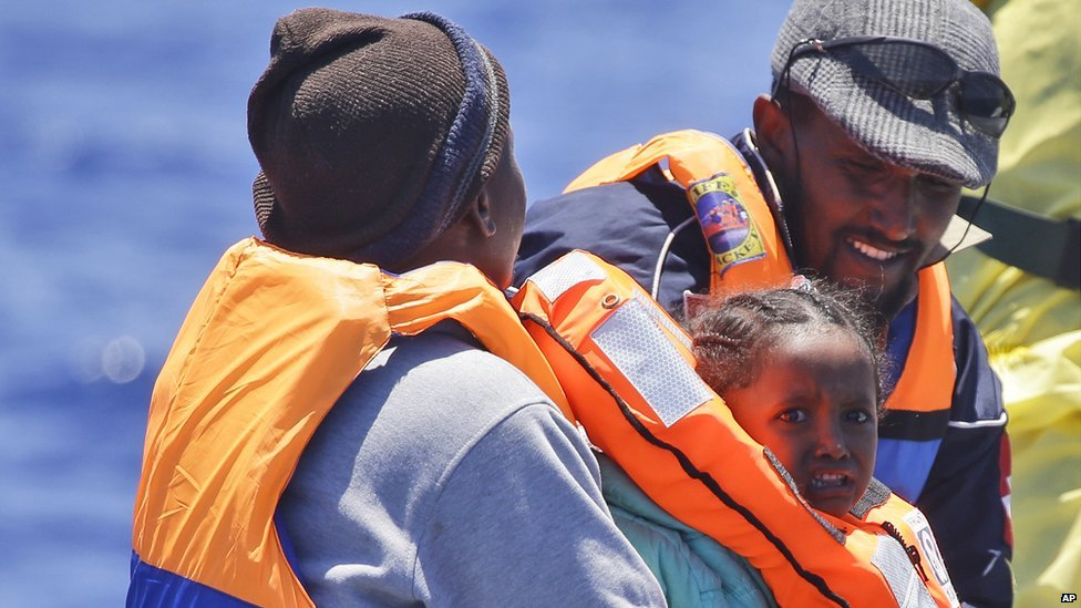 Rescued Eritrean migrants in Mediterranean, 23 Jun 15