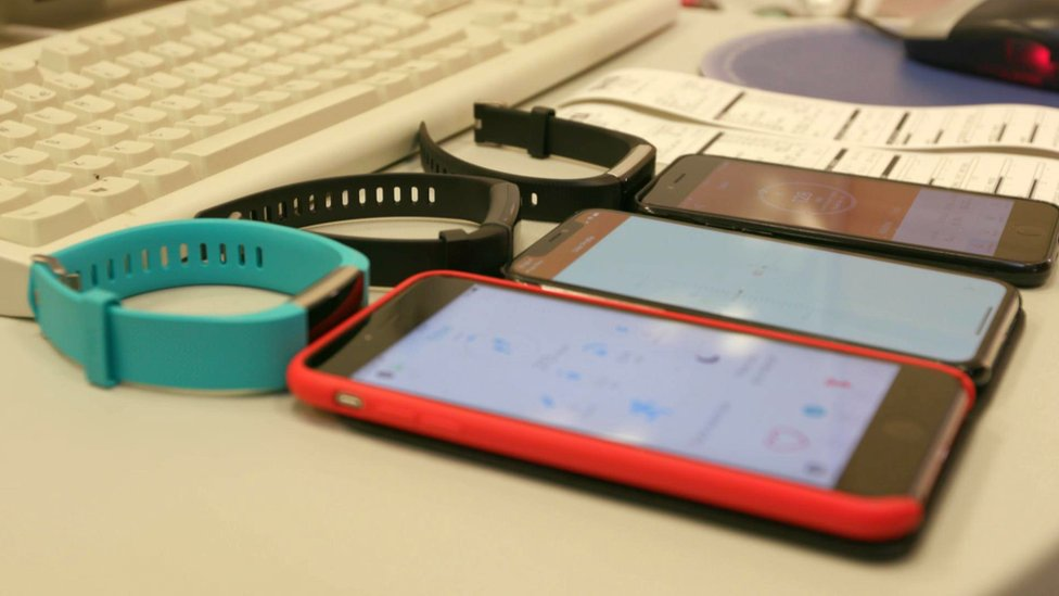 Fitness trackers and phones