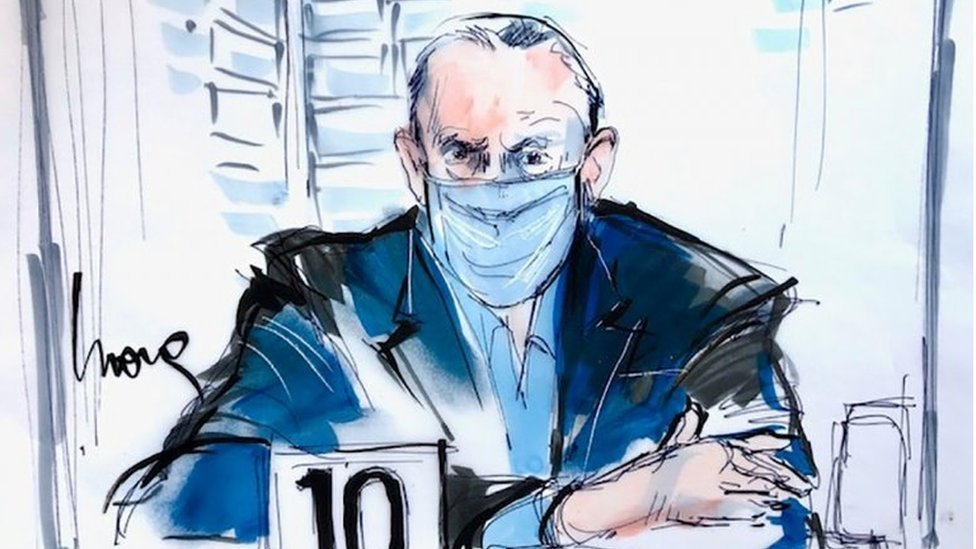 Salvador Cienfuegos, former Defence Minister for Mexican ex-president Enrique Pena Nieto, appears for his arraignment in Los Angeles, US, October 16, 2020 in this courtroom sketch.