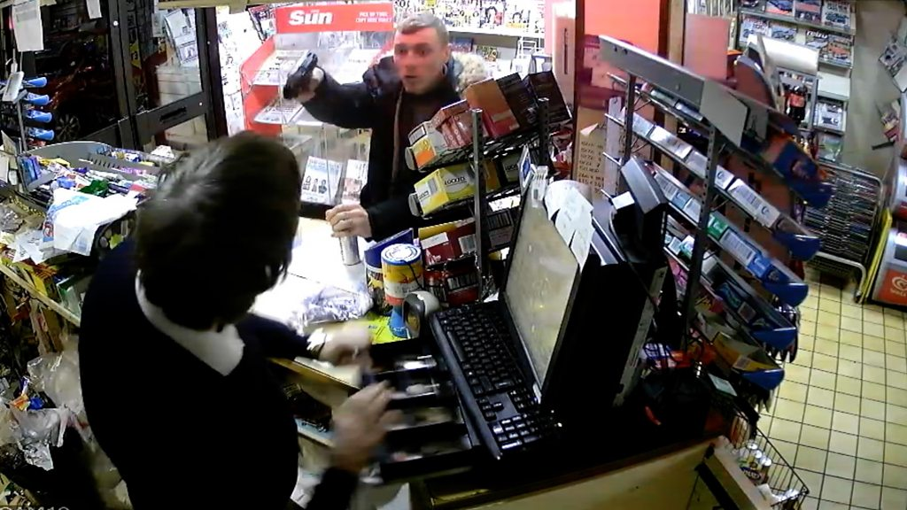 Man puts gun 'inch' from shopkeeper's face in Clacton