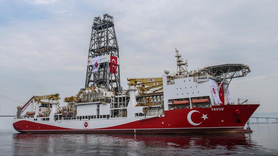 Turkey drilling ship Yavuz leaving Kocaeli port, 20 Jun 19