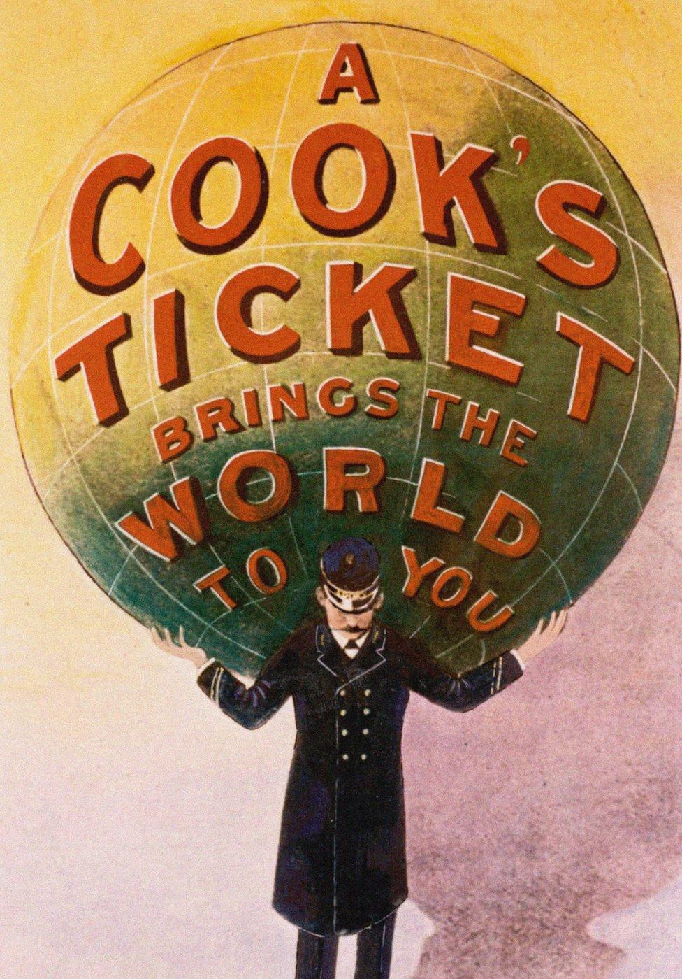 Anuncio de la agencia de viajes Thomas Cook.