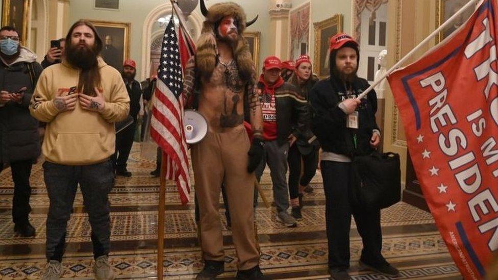 اقتحام مبنى الكونغرس في وقت سابق من يناير الجاري