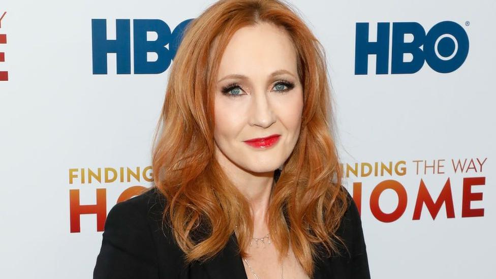 Close up of JK Rowling