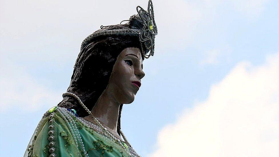 Estatua de Iemanjá en Río