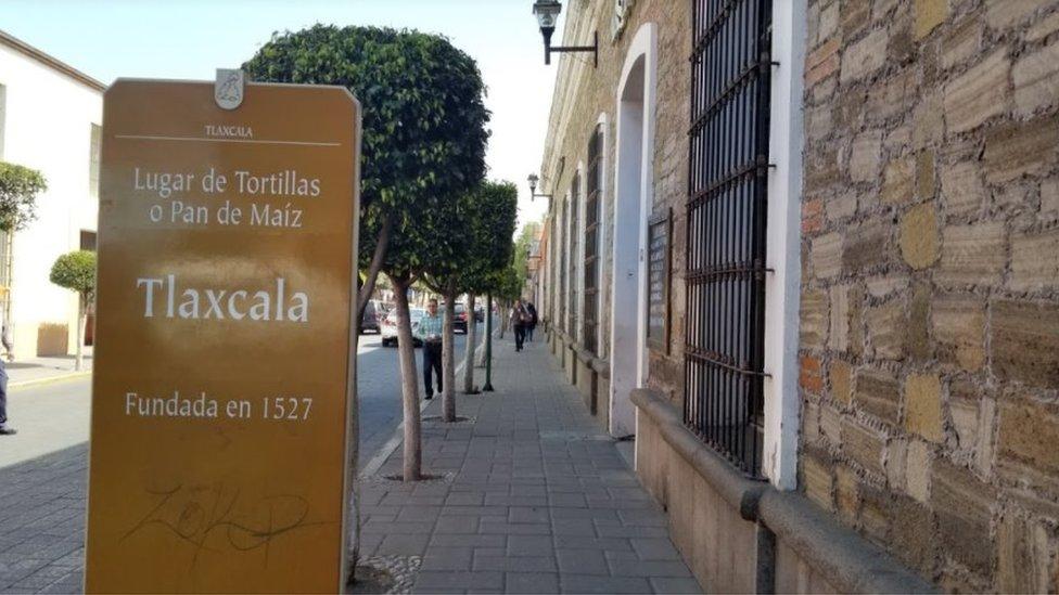 Una calle de Tlaxcala