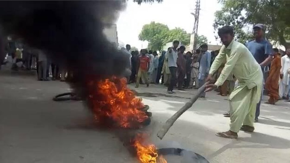 Christians protest in Umarkot on 1 June