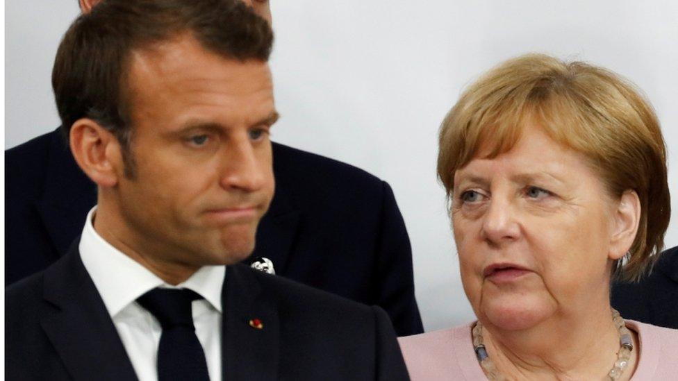Emmanuel Macron and Angela Merkel, file photo, 29 June 2019