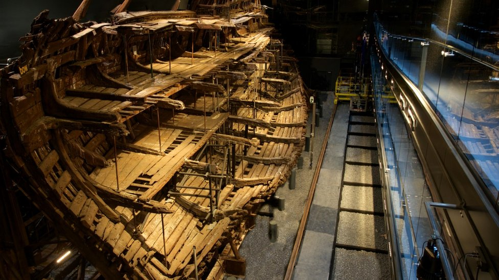 The Mary Rose wreck at the museum