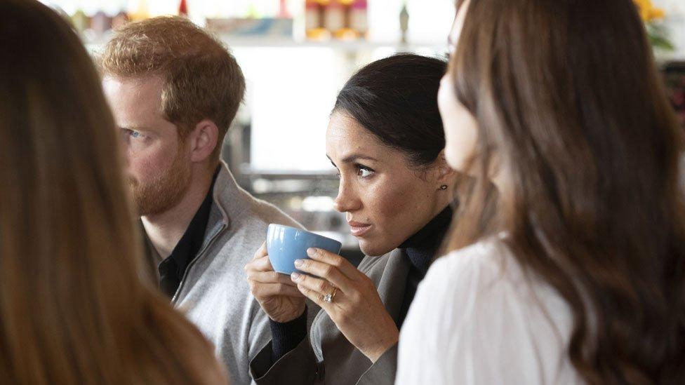 Meghan and Harry at Maranui Cafe