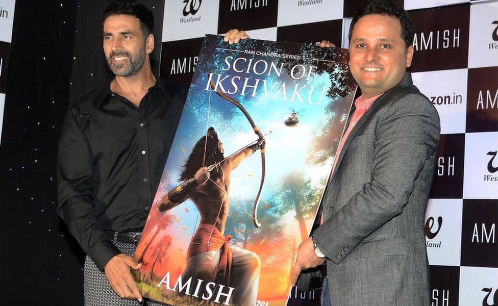 Bollywood actor Akshay Kumar released Tripathi's book on the Hindu god Ram