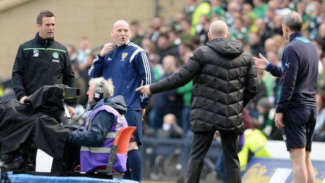 Celtic manager Ronny Deila (left) and Mark Warburton