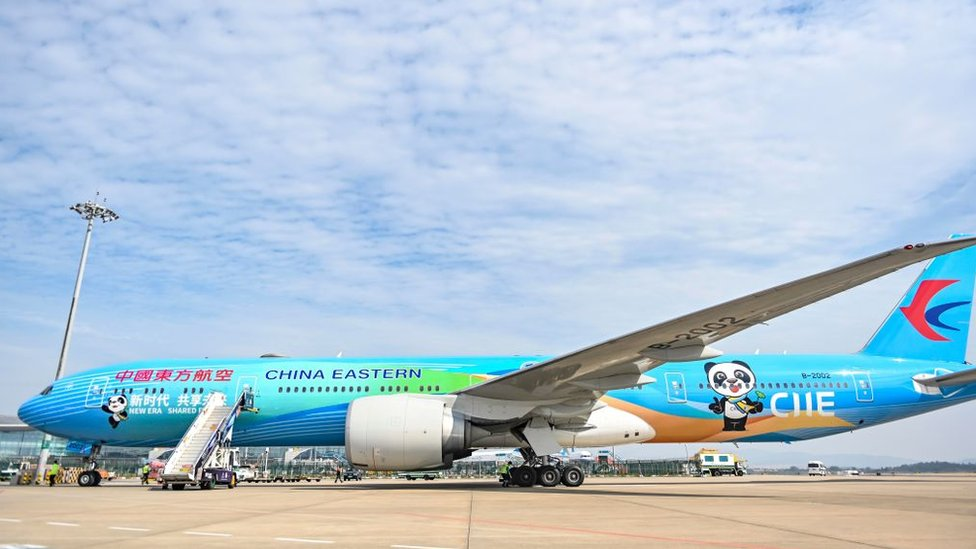 A painted Boeing-777 aircraft of China Eastern Airlines in October 2020