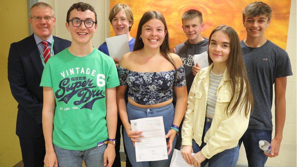 Pupils at Ysgol Gyfun Garth Olwg
