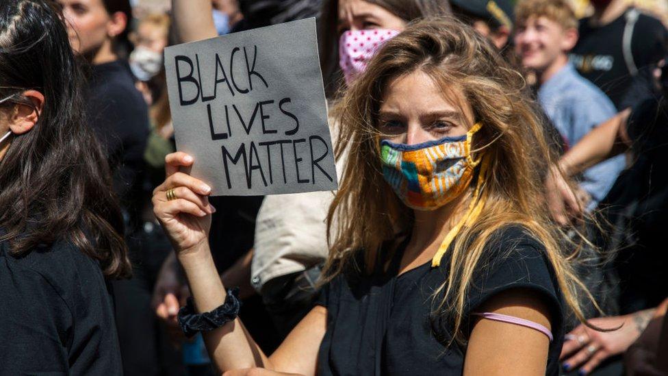 Protesta por la injusticia racial en Estados Unidos.