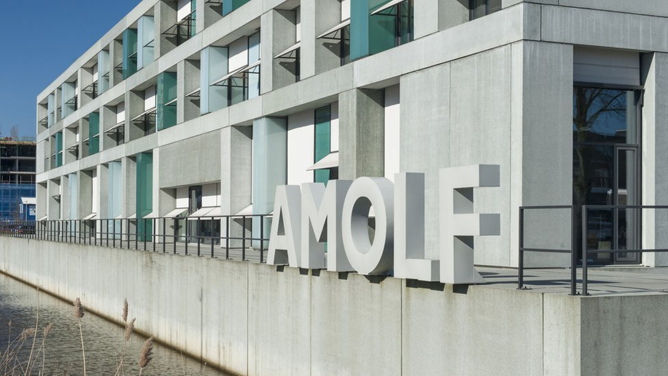 Edificio de AMOLF en Ámsterdam.