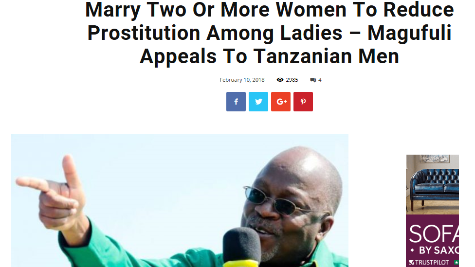 Tanzania President John Magufuli