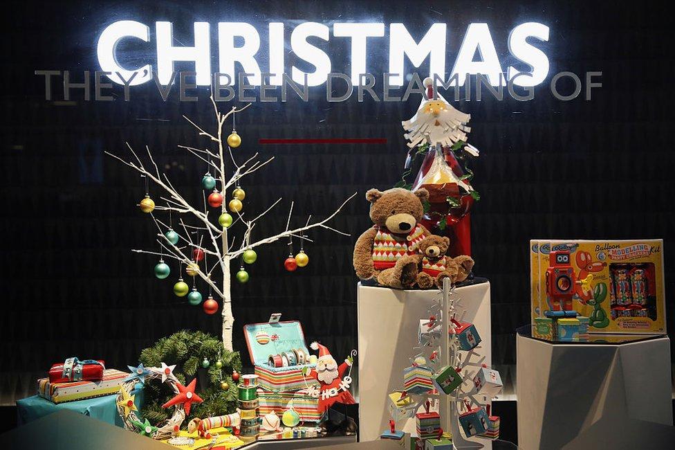一家商店的聖誕裝飾