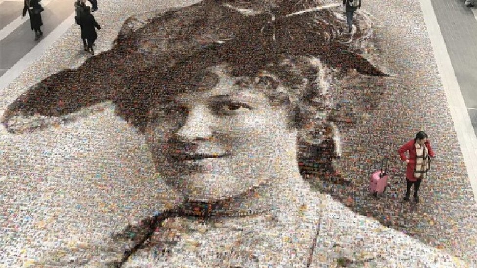 Face of Suffrage: Hilda Burkitt selfie mosaic unveiled