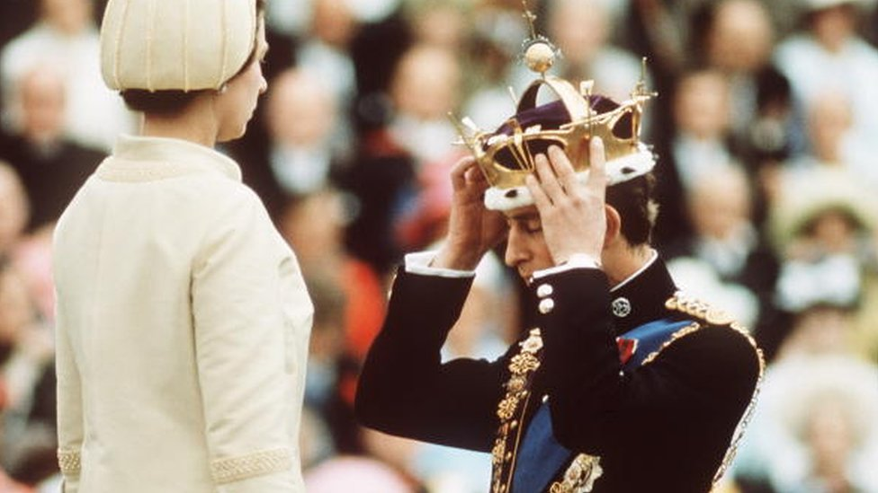 The investiture of Prince Charles in 1969