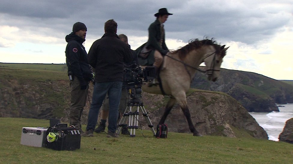 Horses used in filming of Poldark