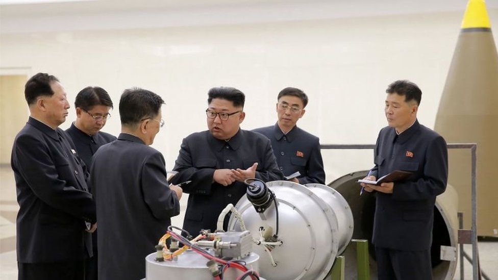 """This undated picture released by North Korea""""s official Korean Central News Agency (KCNA) on September 3, 2017"""