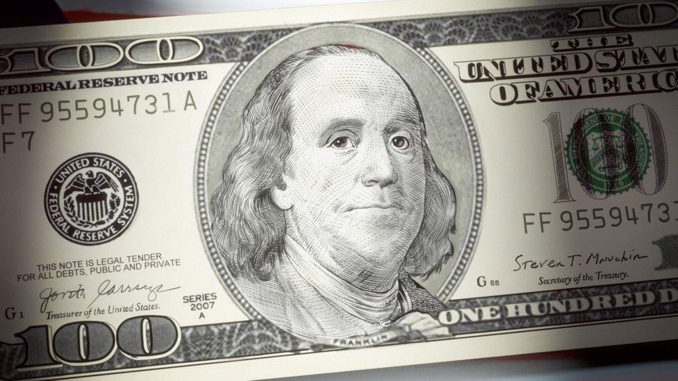 Billete de US$100